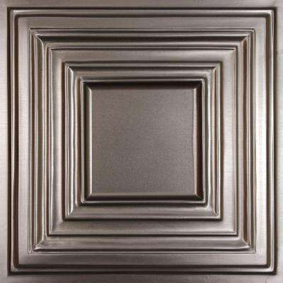 Bistro Faux Tin 2 ft. x 2 ft. Lay-in or Glue-up Ceiling Panel (Case of 6)