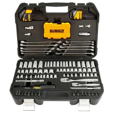 142-Pc Dewalt Drive Polished Chrome Mechanics Tool Set