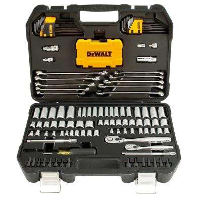 1/4 in. x 3/8 in. Drive Polished Chrome Mechanics Tool Set (142-Piece)