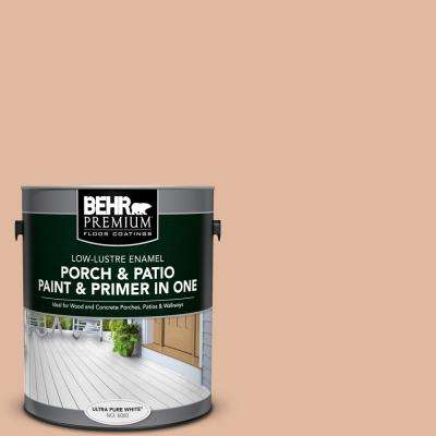 1 gal. #PFC-07 Michel Rose Low-Lustre Interior/Exterior Paint and Primer In One Porch and Patio Floor Paint