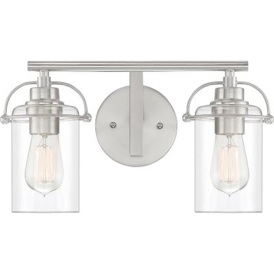 Emerson 2-Light Brushed Nickel Vanity Light