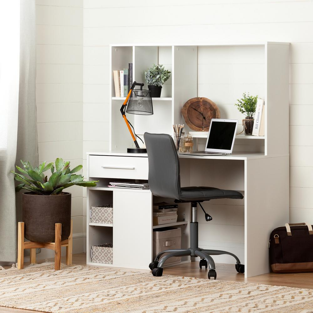South Shore Furniture Annexe Home Office Computer Desk: South Shore Annexe Desk In Pure White-100210
