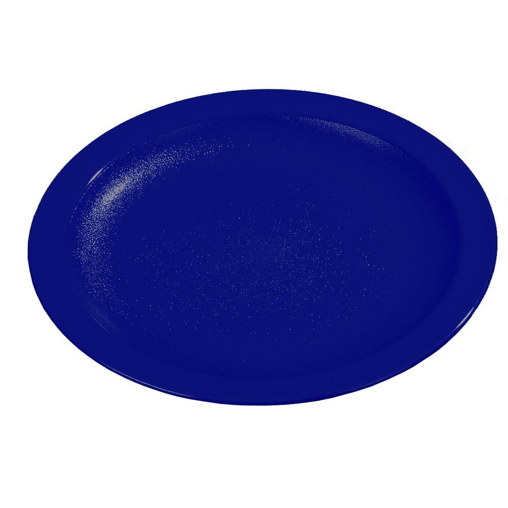 Diameter Polycarbonate Narrow Rim Commercial Dinnerware Plate in Dark  sc 1 st  Home Depot & Carlisle 11.0 in. Diameter Melamine 3-Compartment Plate in Cafe Blue ...