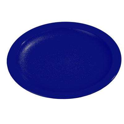 9.0 in. Diameter Polycarbonate Narrow Rim Commercial Dinnerware Plate in Dark Blue (Case of 48)