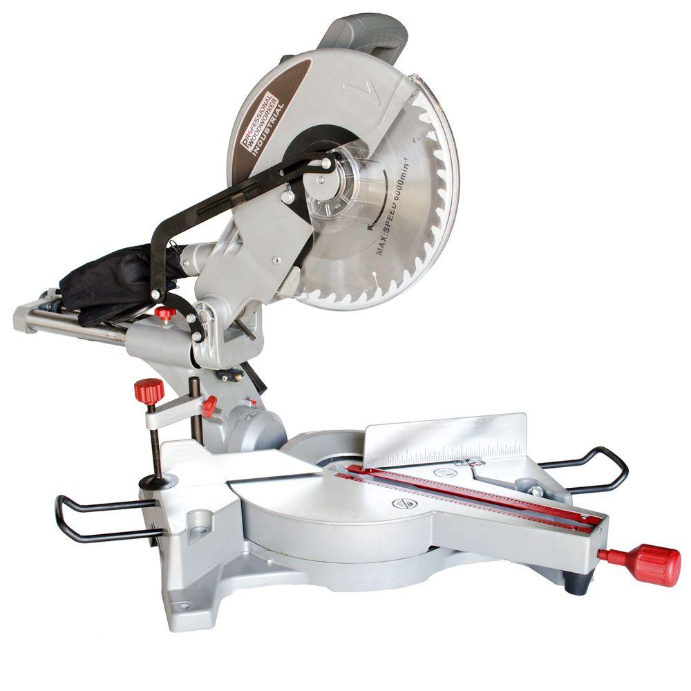 professional woodworker 15 amp 12 in sliding compound miter saw