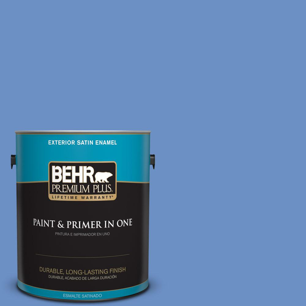Home Decorators Collection 1-gal. #HDC-MD-02 Lapis Lazuli Satin Enamel Exterior