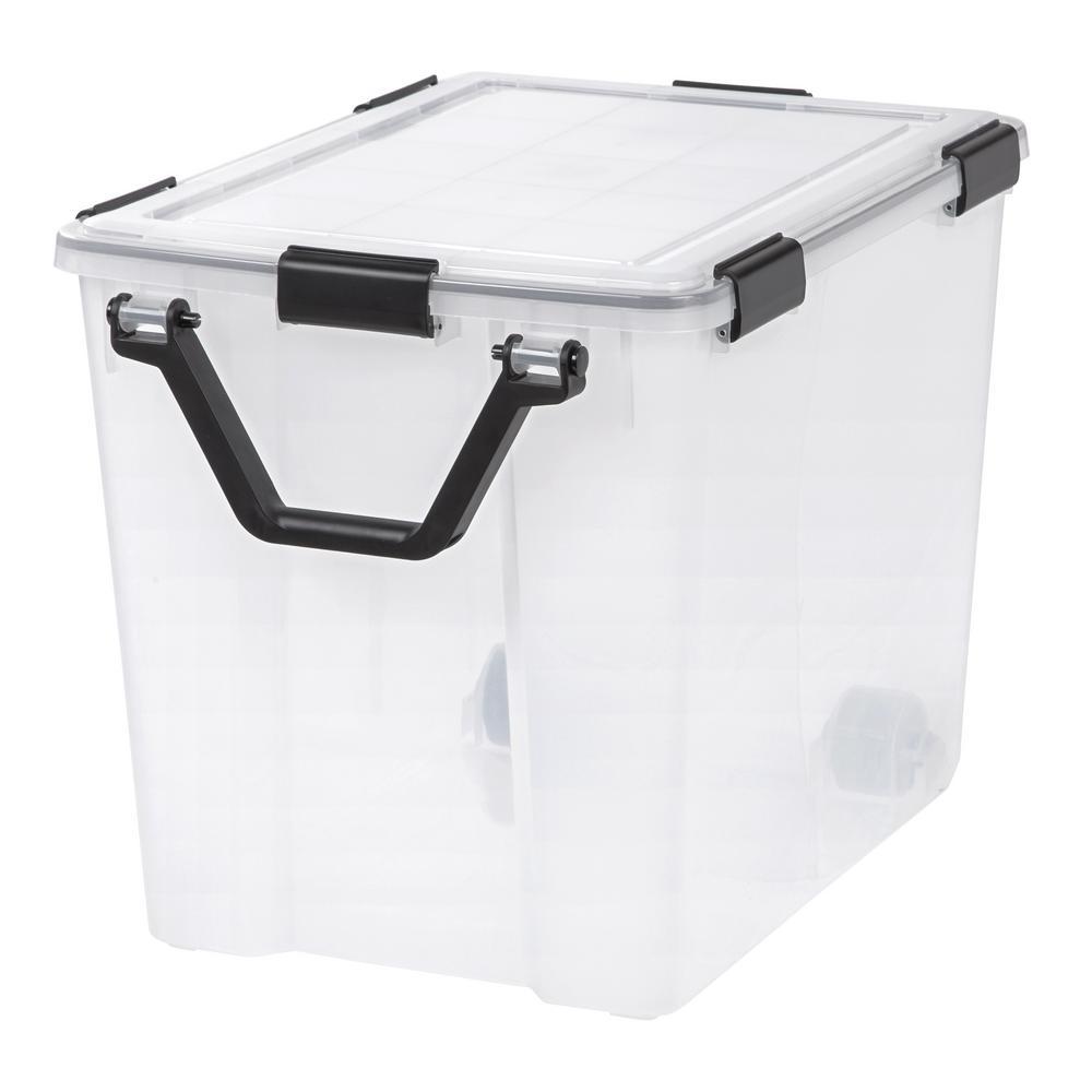 IRIS 103 Qt. Weather Tight Storage Box in Clear