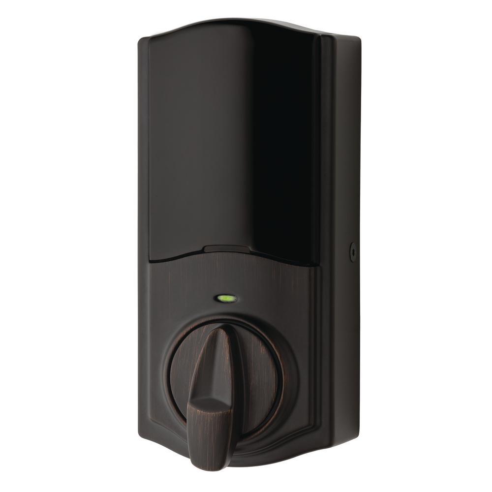 Kwikset Kevo Convert Smart Lock Venetian Bronze Conversion Kit Featuring Bluetooth Technology