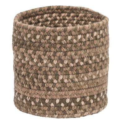 Acre Small Space Wool Basket Dark Toffee 10 in. x 10 in. x 8 in.