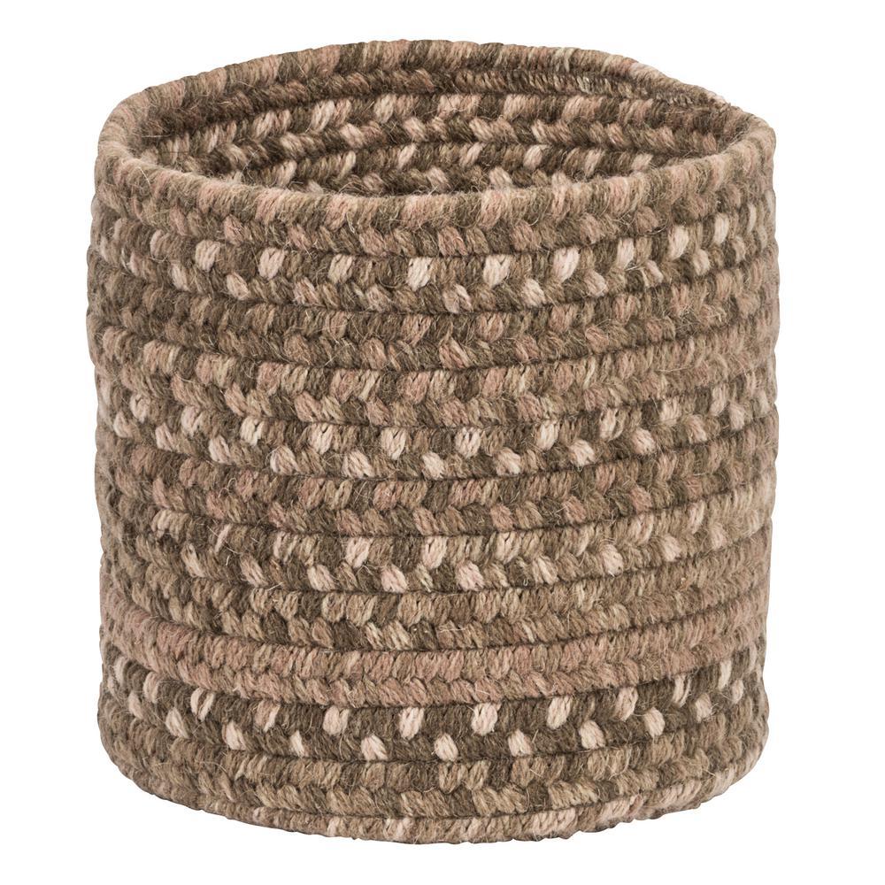Colonial Mills Acre Small Space Wool Basket Dark Toffee 10 in.