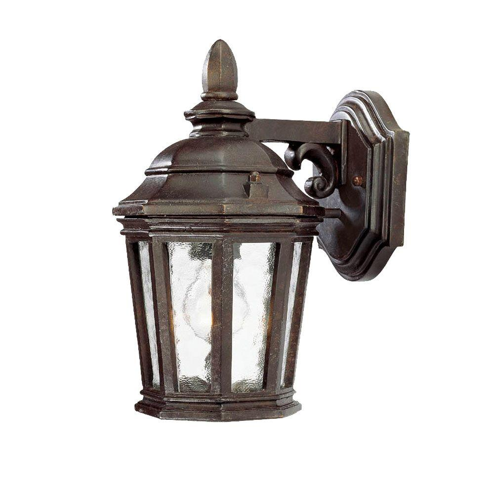 Acclaim Lighting Barrington Collection Wall-Mount 1-Light Outdoor Marbleized Mahogany Fixture
