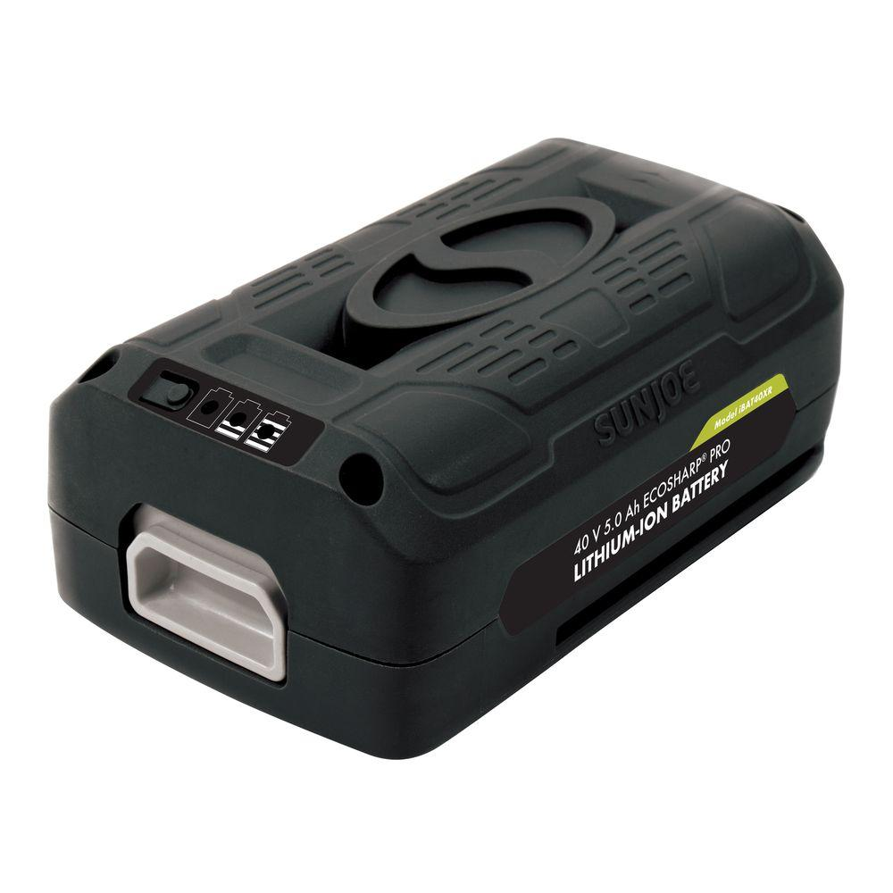 Snow Joe iON EcoSharp PRO 40-Volt 5.0 Ah Lithium-Ion Battery