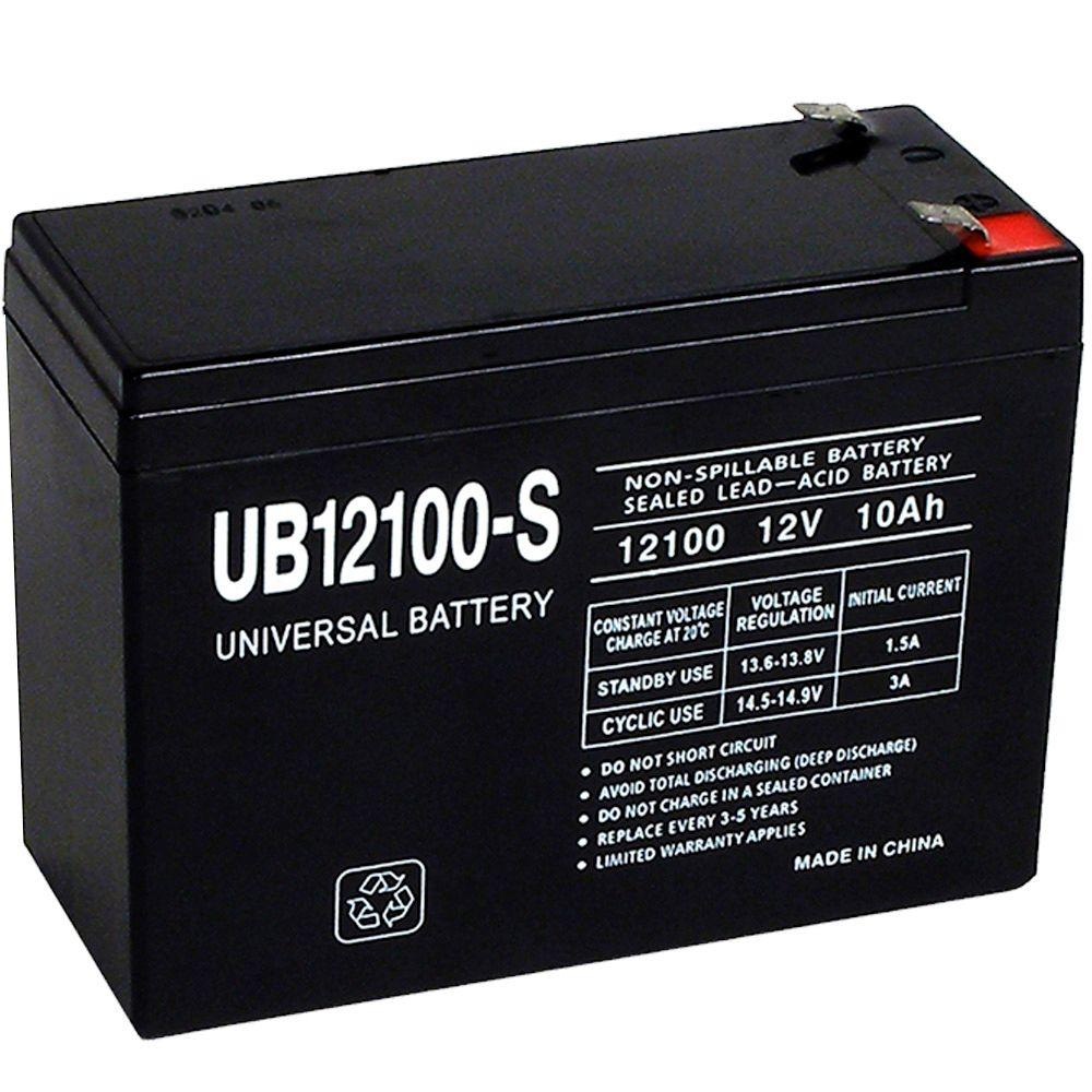 upg sla 12 volt f2 terminal battery ub12100 s the home depot. Black Bedroom Furniture Sets. Home Design Ideas