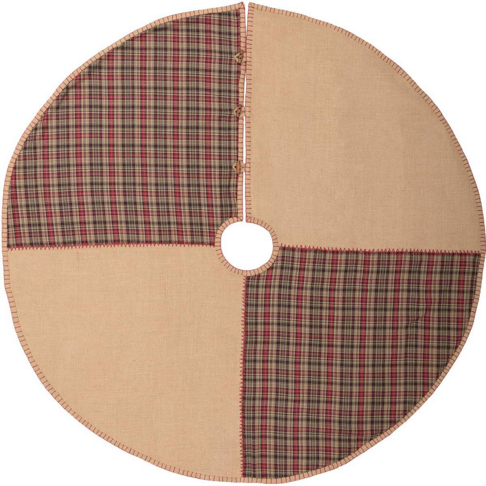 48 in. Clement Natural Tan Rustic Christmas Decor Tree Skirt