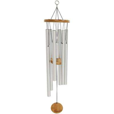 33 in. Hand-Tuned Aluminum Wind Chime with Bamboo Clapper