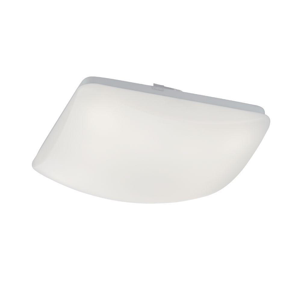 Commercial Electric 11 in. Low-Profile White LED Square Puff Light