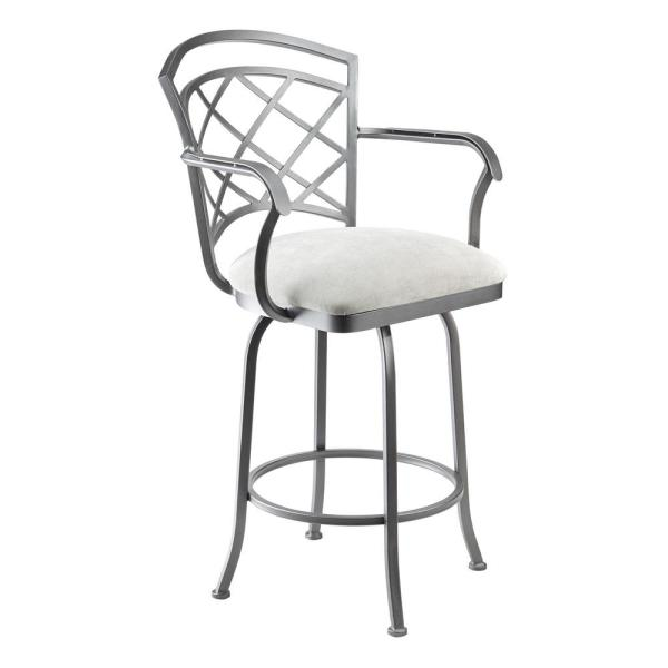 Taylor Gray Home Sicilia 26 In Echo Teak Swivel Bar Stool B518h26as The Home Depot