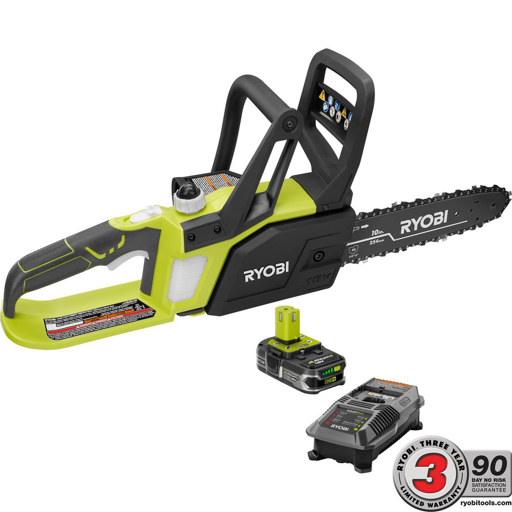 Ryobi one lithium 10 in 18 volt lithium ion cordless chainsaw ryobi one lithium 10 in 18 volt lithium ion cordless chainsaw 15 greentooth Images