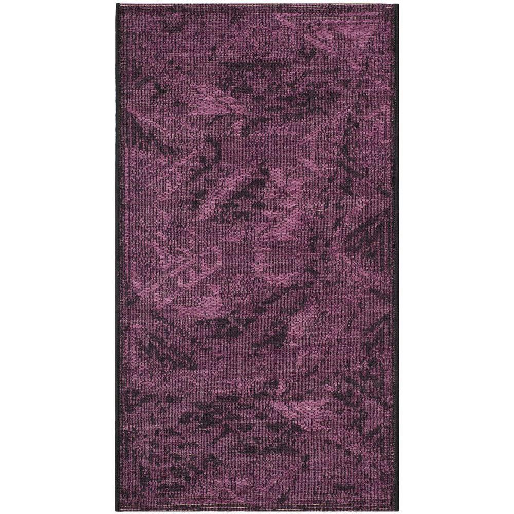 Dark Purple Rugs: Safavieh Palazzo Black/Purple 3 Ft. X 5 Ft. Area Rug