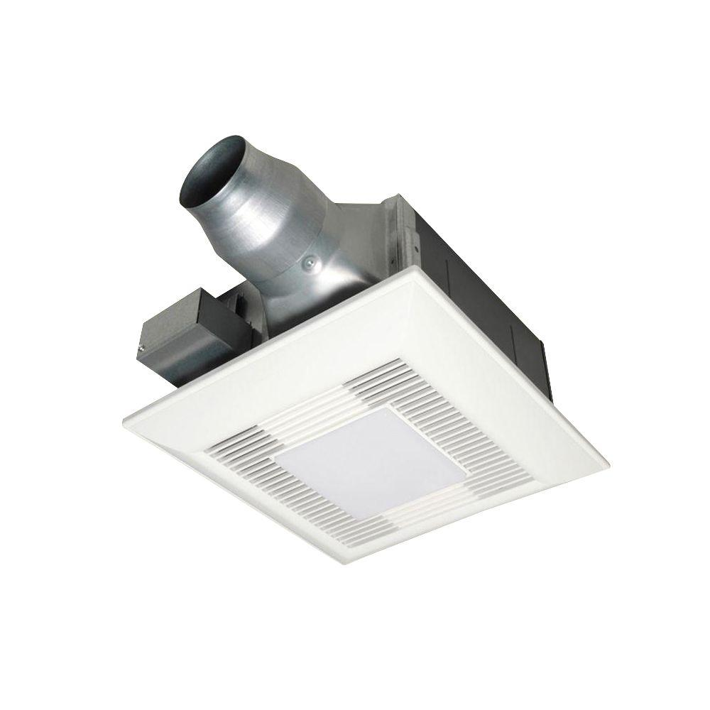 . Panasonic 80 or 110 CFM Ceiling Dual Speed Exhaust Fan with Compact  Fluorescent Lamp Designed for Renovation Applications