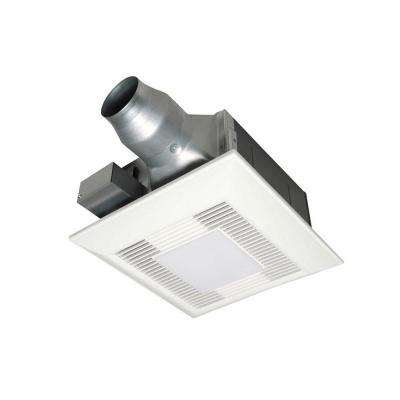 80 or 110 CFM Ceiling Dual Speed Exhaust Fan with Compact Fluorescent Lamp Designed for Renovation Applications