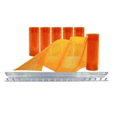 AirStream Insect Barrier 3 ft. x 7 ft. Amber PVC Strip Door Kit
