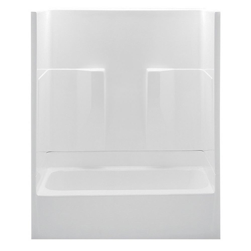 aquatic remodeline smooth wall 60 in x 30 in x 72 in 2piece bath and shower kit with left drain in the home depot