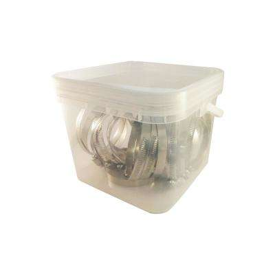 3-1/16 in. to 4 in. Stainless Steel Hose Clamps (25-Pack)