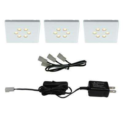 White LED Square Light Kit (3-Piece)