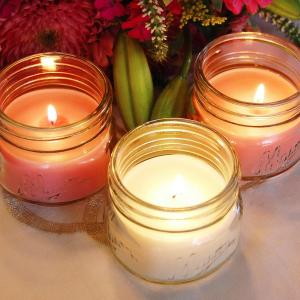 f95edf9bcd29 Scented Candles - Floral Collection in 3 oz. Glass Mason Jars (6 Count)
