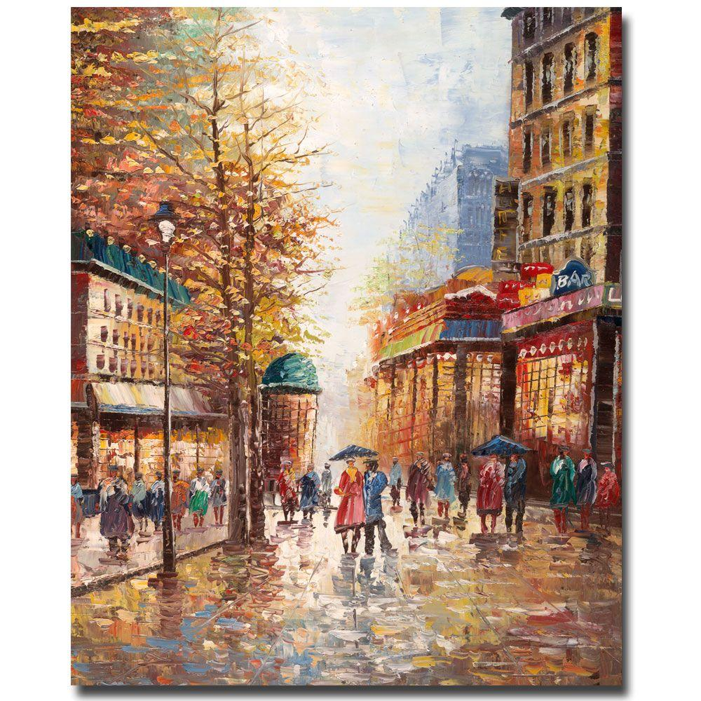 24 in. x 32 in. French Street Canvas Art