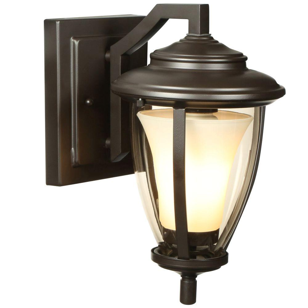Home Decorators Collection Stockholm Satin Bronze Outdoor Wall Lantern