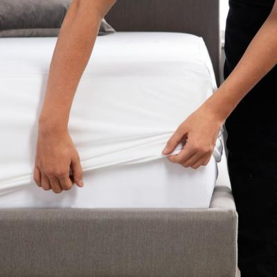 Hotel-Grade White 5-Sided Jersey Full Mattress Protector