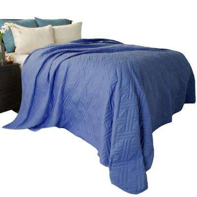 Solid Color Navy Twin Bed Quilt