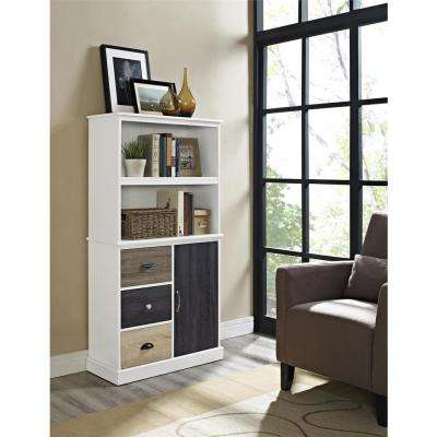 Mercer White Storage Bookcase