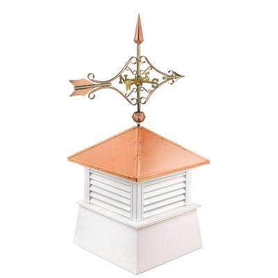 Manchester 18 in. x 21 in. x 44 in. Vinyl Cupola with Cottage Victorian Arrow