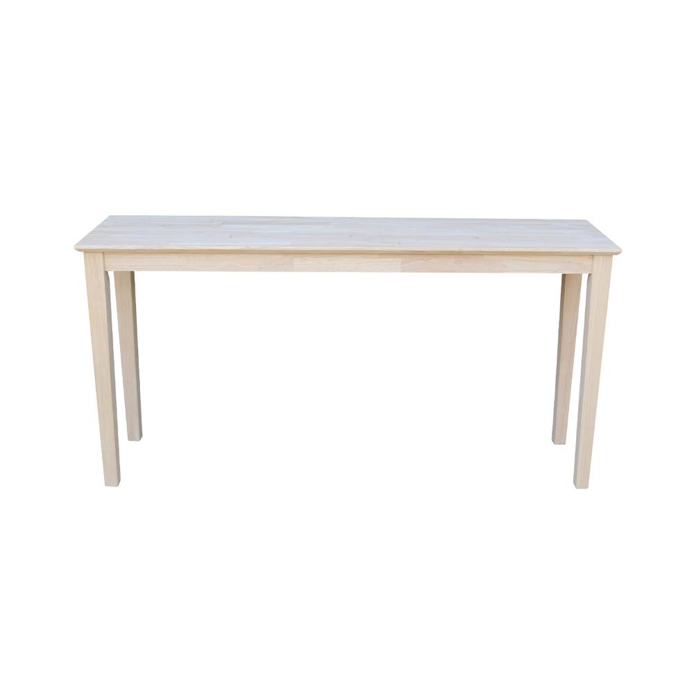 International Concepts Unfinished Bench Be 1: International Concepts Unfinished Console Table-OT-696789