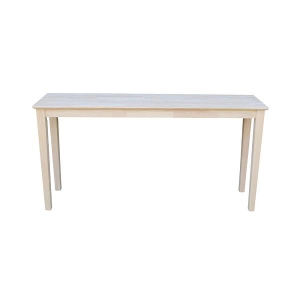 Unfinished Console Table