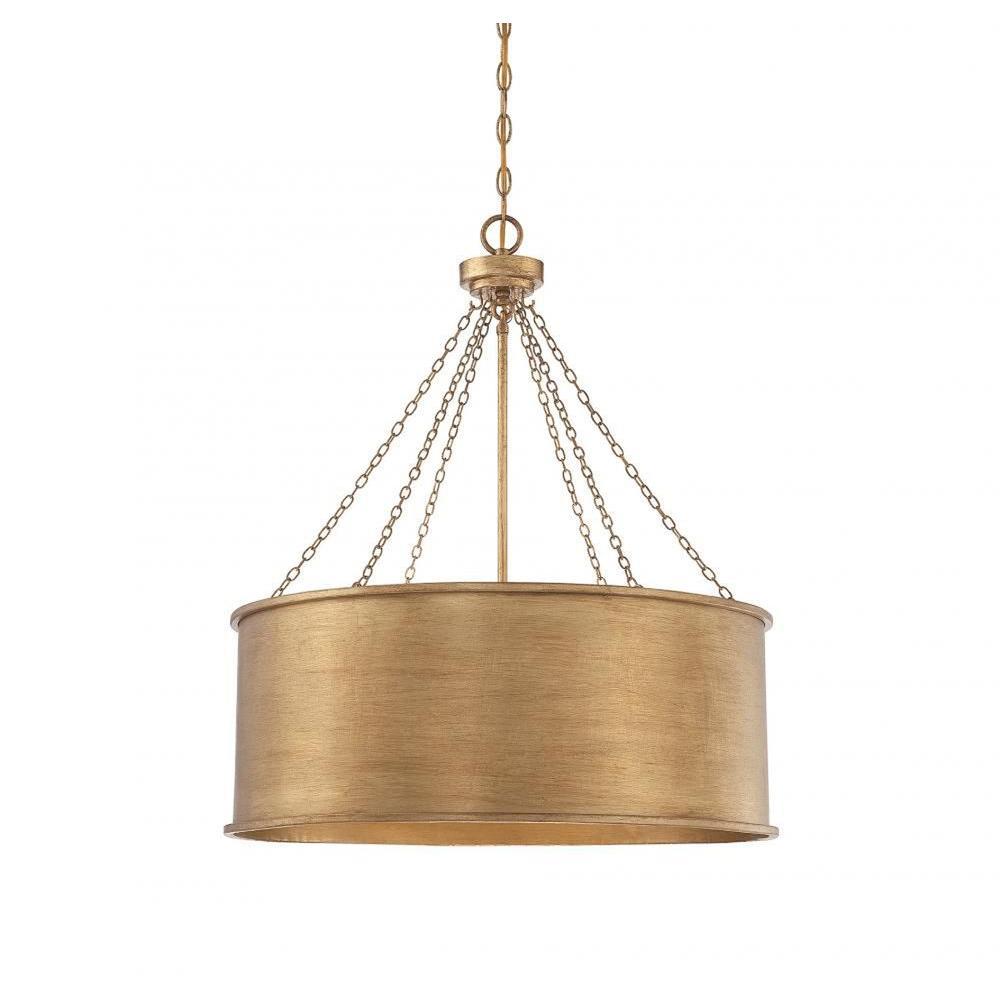 Meko 6 Light Gold Pendant