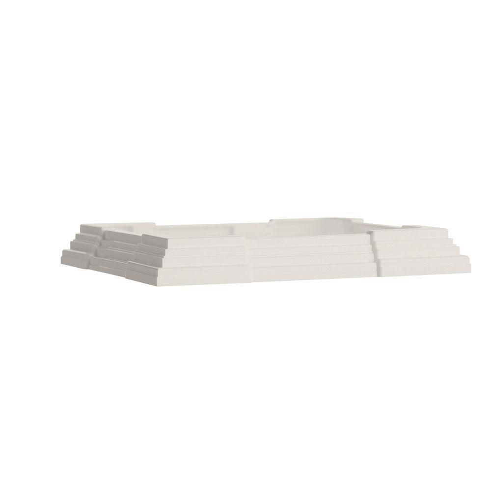 Veranda Adjustable Vinyl Fence Post Base Trim 126111 The Home Depot