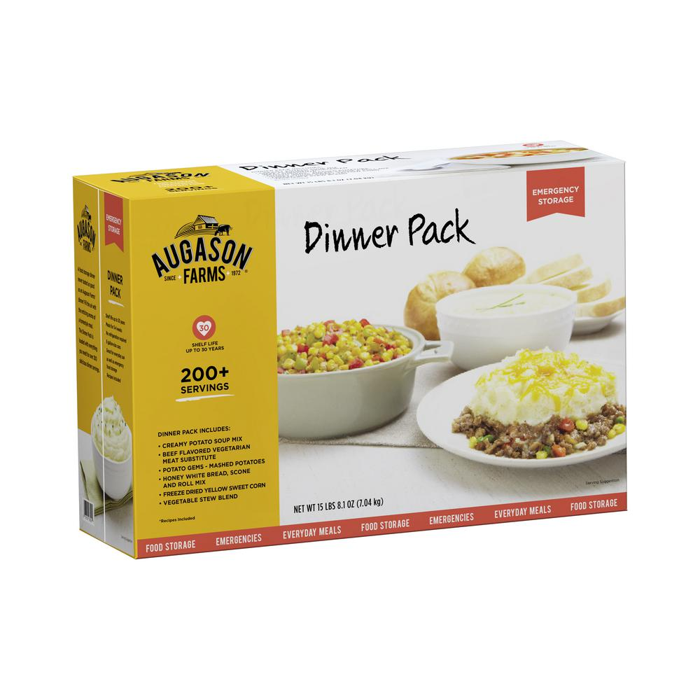 Dinner Variety Pack Emergency Food Supply 6 Large Cans 30 Year