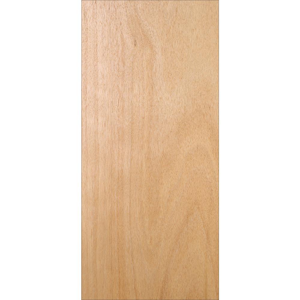 32 in. x 80 in. Unfinished Flush Hardwood Interior Door Slab