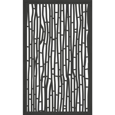 5 ft. x 3 ft. Framed Charcoal Gray Decorative Composite Fence Panel featured in The Bali Design