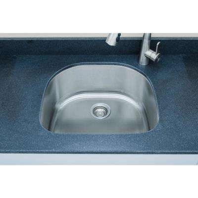 The Craftsmen Series Undermount  Stainless Steel 23 in. Single Bowl Kitchen Sink Package
