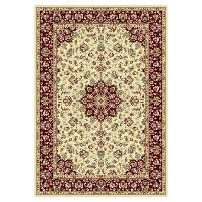 Hudson Classic Ivory/Red 8 ft. x 11 ft. Area Rug
