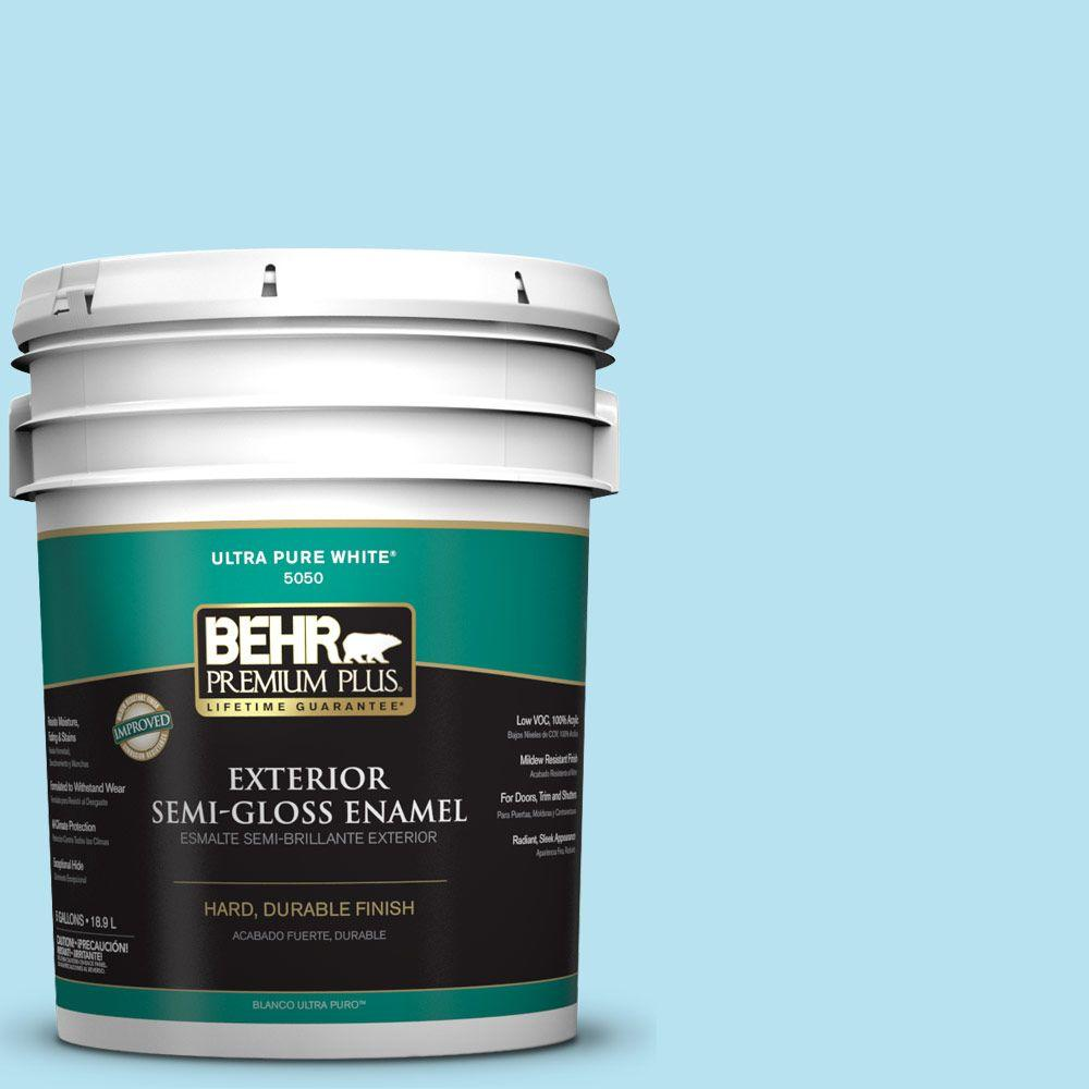 5-gal. #P490-1 Ocean Front Semi-Gloss Enamel Exterior Paint