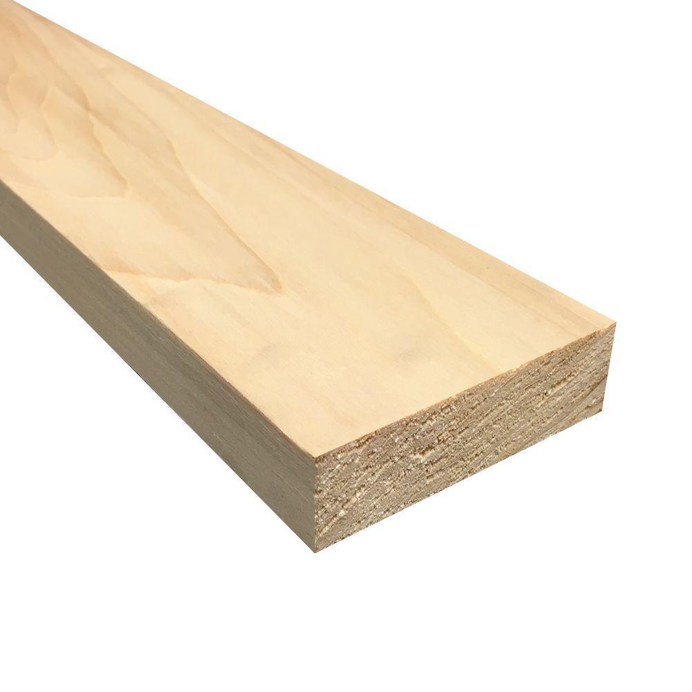 Weaber 1 in. x 3 in. x Random Length S4S Aspen Board