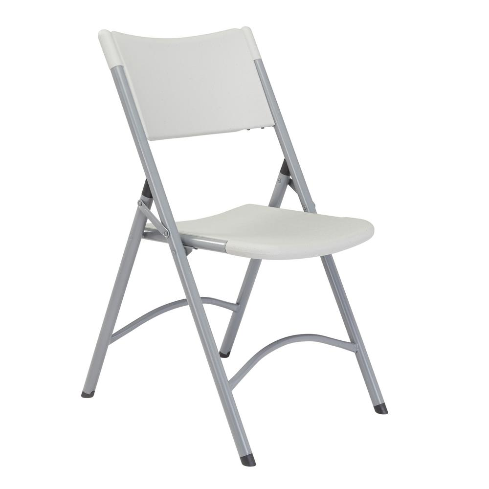 National Public Seating Grey Plastic Seat Outdoor Safe Folding Chair (Set of 4)