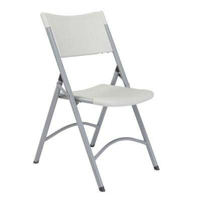 Grey Plastic Seat Outdoor Safe Folding Chair (Set of 4)