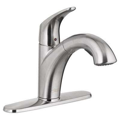 Colony Pro Single-Handle Pull-Out Sprayer Kitchen Faucet in Stainless Steel
